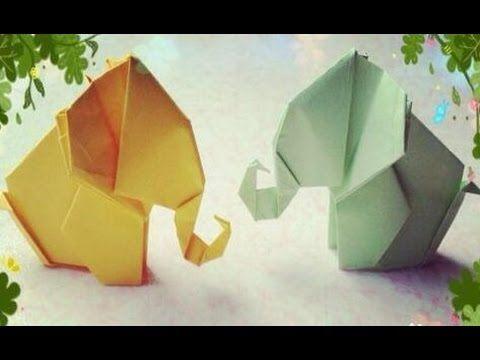 Origami Elephant Instructions - YouTube | 360x480