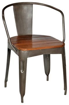 Iron Dining Chair, Stainless Steel   Industrial   Dining Chairs    SmartFurniture