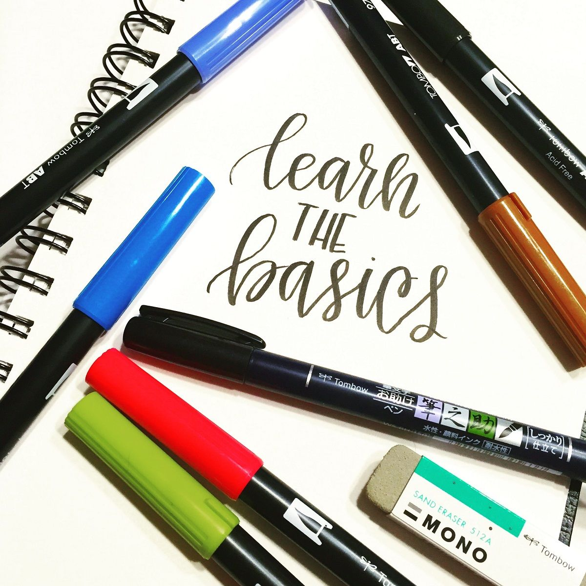 Lettering Week: Tombow Like A Lefty With Lauren