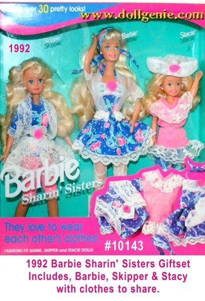 Sharin Sisters Barbie, Stacie and Kelly Giftset