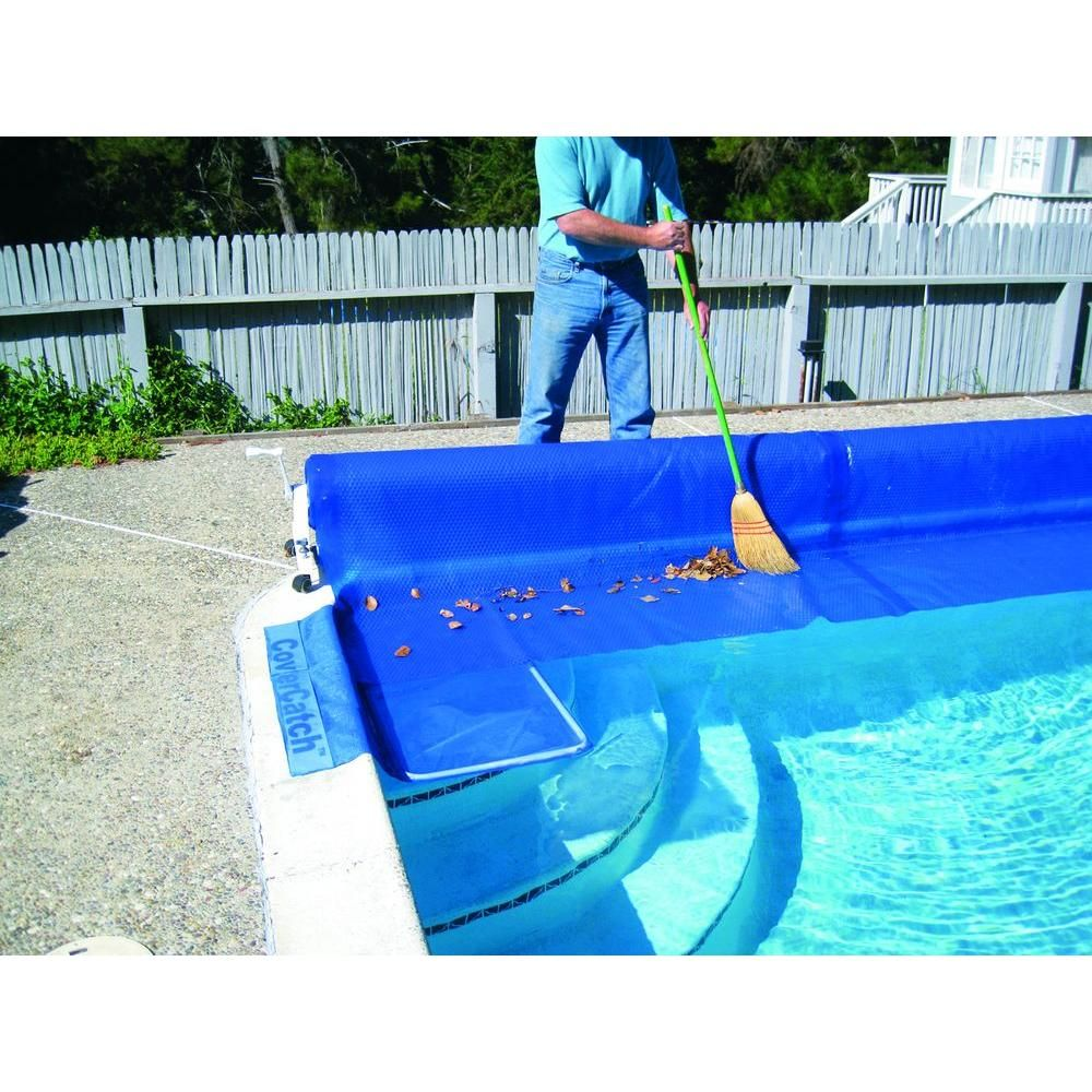 Poolmaster Swimming Pool Cover Catch For Inground Pool 29016 The Home Depot In 2020 Solar Cover Pool Cover Solar Pool