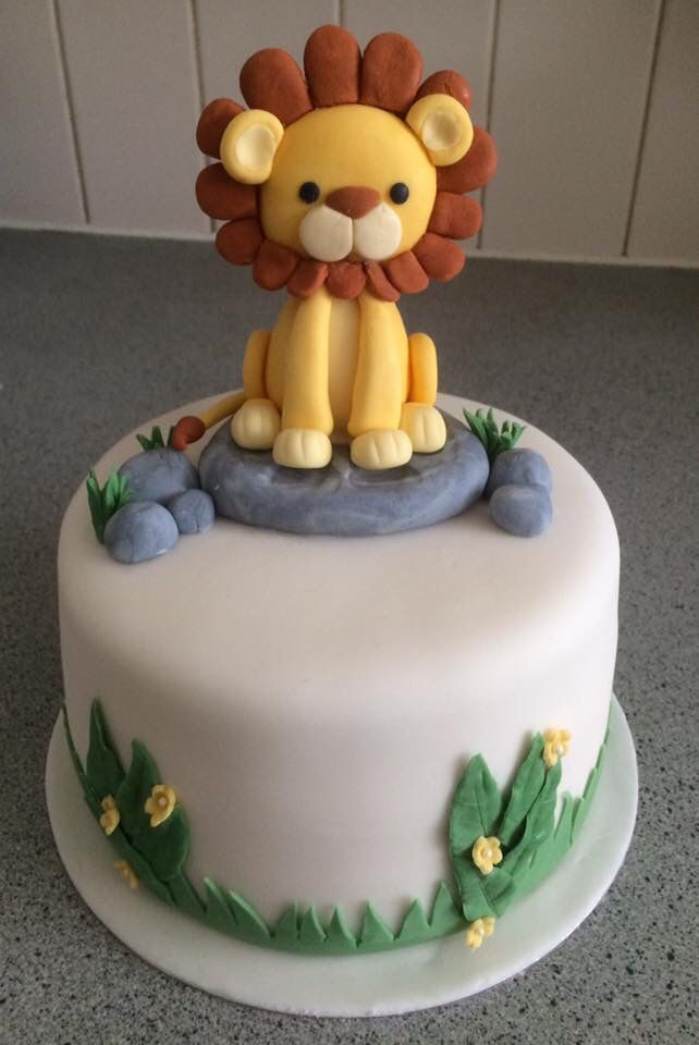 Baby lion cake my baby shower Pinterest Lion cakes Lions