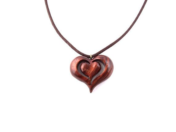 Pin By Linda Pimley On Wooden Jewelry Wood Heart Necklace Wood Necklace Wood Jewellery
