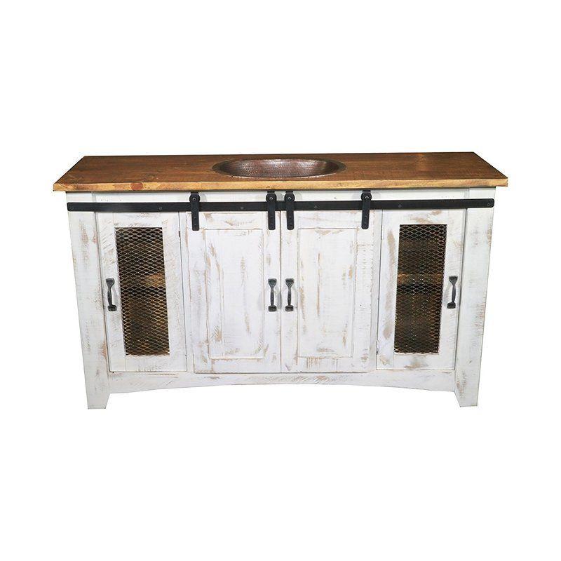 Heyward 60 Single Bathroom Vanity Farmhouse Vanity Single Bathroom Vanity Single Sink Bathroom Vanity