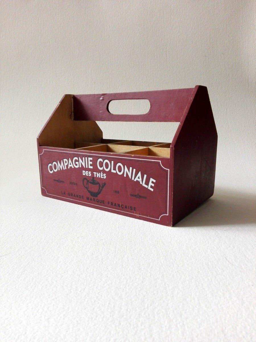Boite En Bois A Compartiments Rangement Sauces Panier A