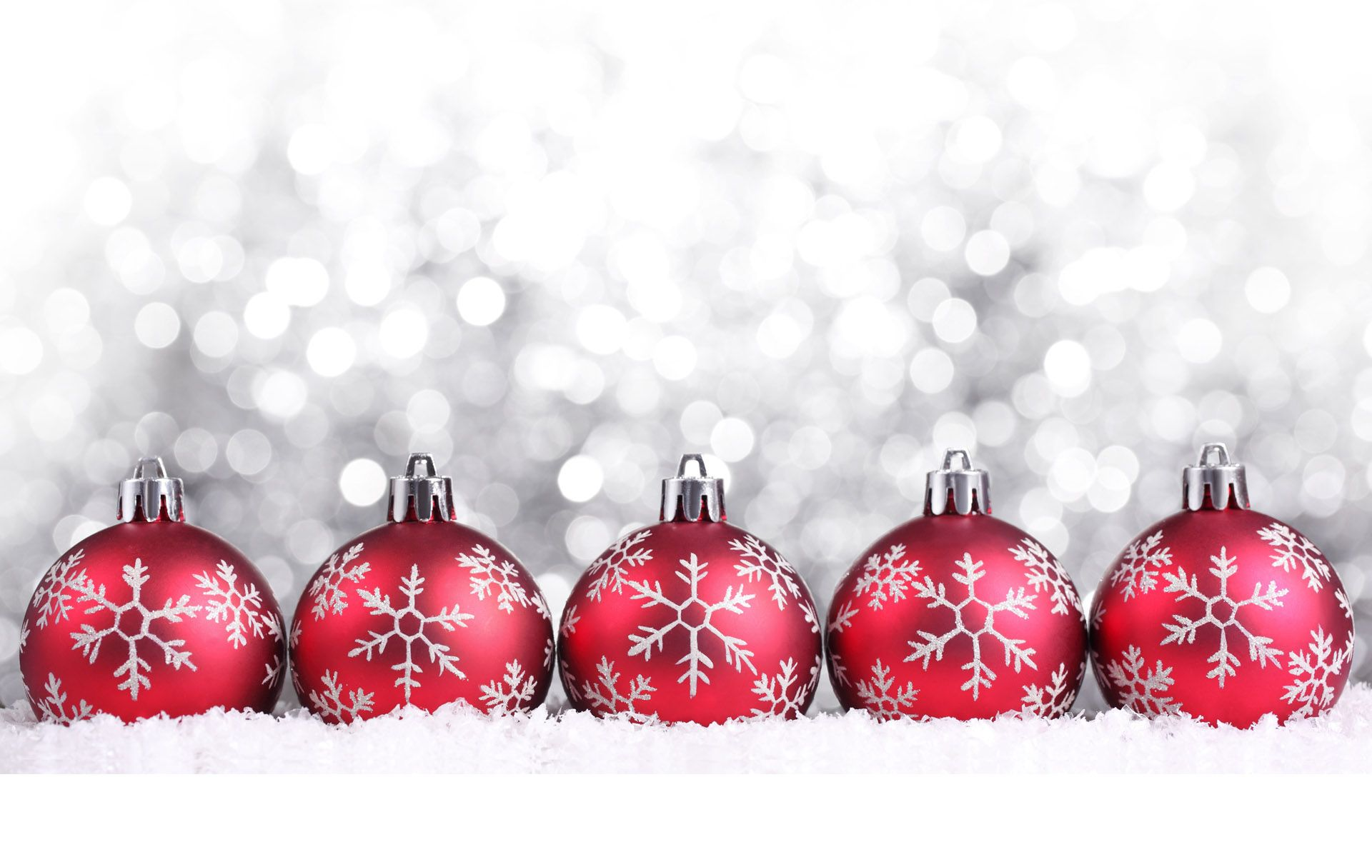 Silver and red christmas decorations - Ornament Christmas Ornaments Wallpaper