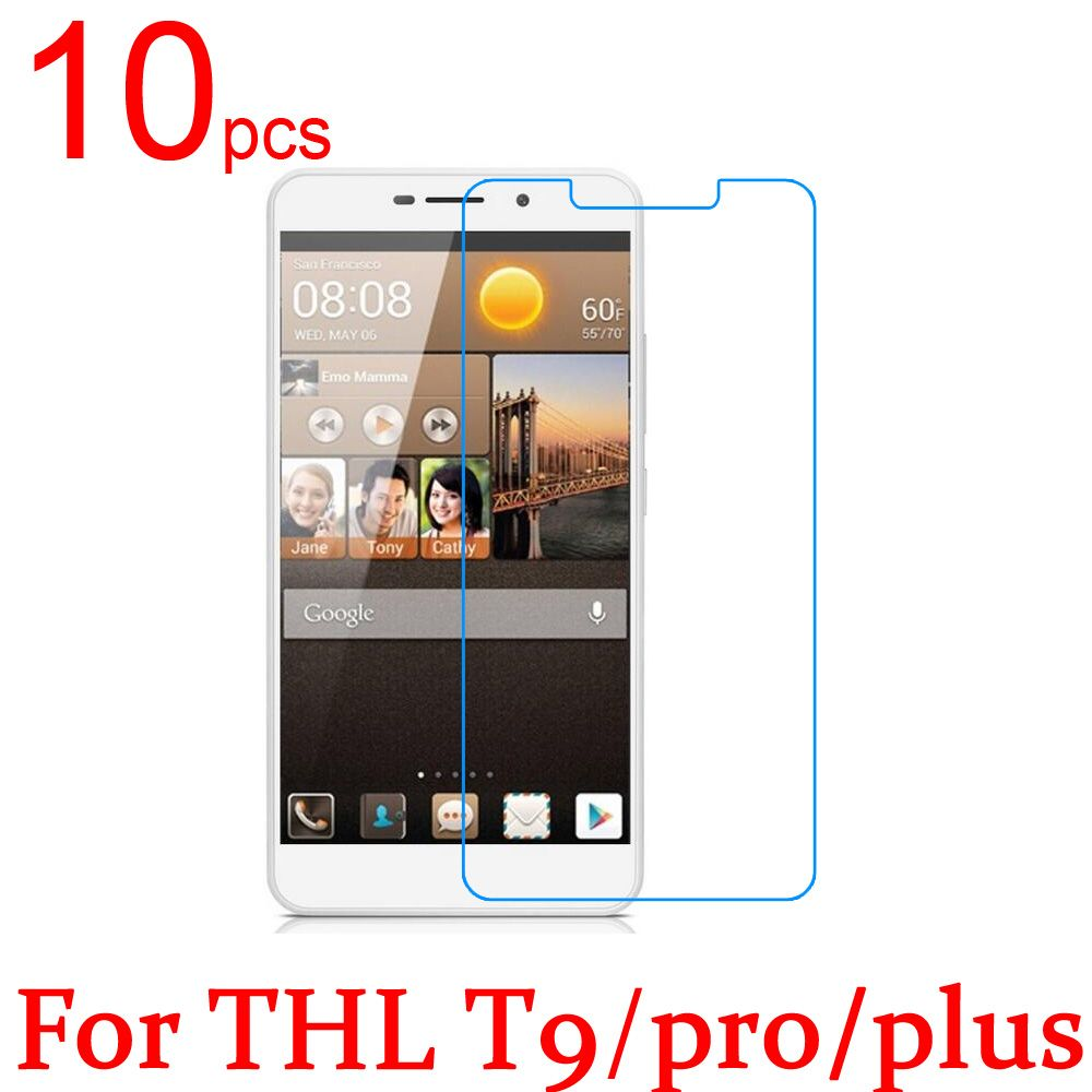 10pcs Glossy Ultra Clear/Matte/Nano Anti-Explosion LCD Screen Protector Film Cover for THL T9 Pro Plus Protective Film + Cloth