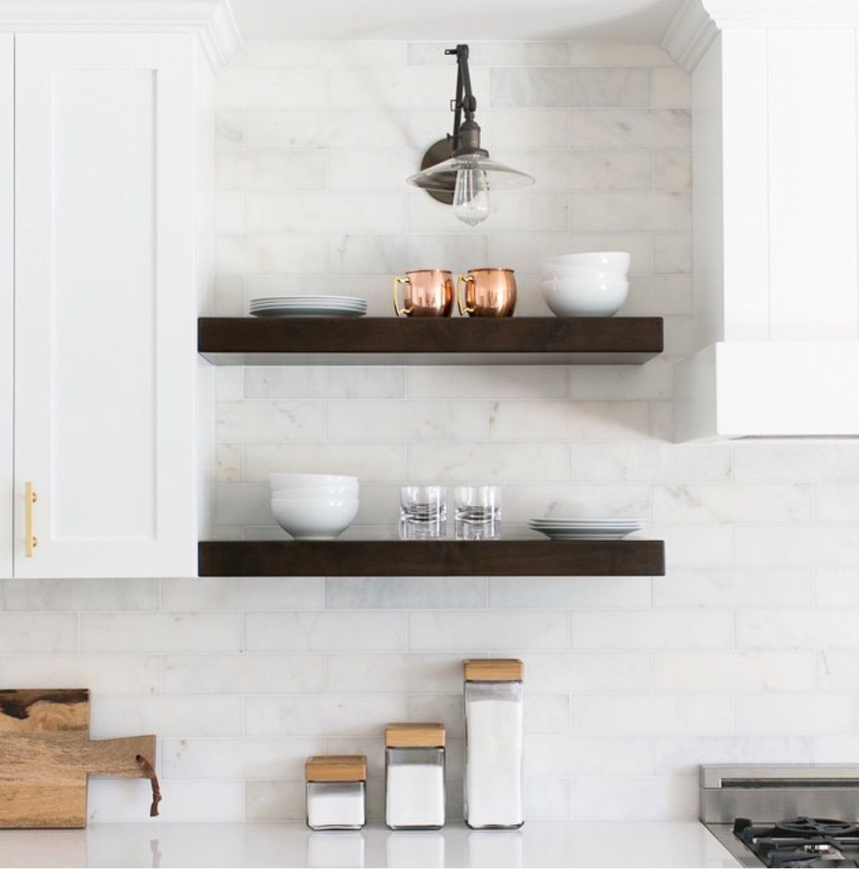 pin by jess jones design group on shelfie open kitchen shelves floating shelves kitchen on kitchen floating shelves id=47645