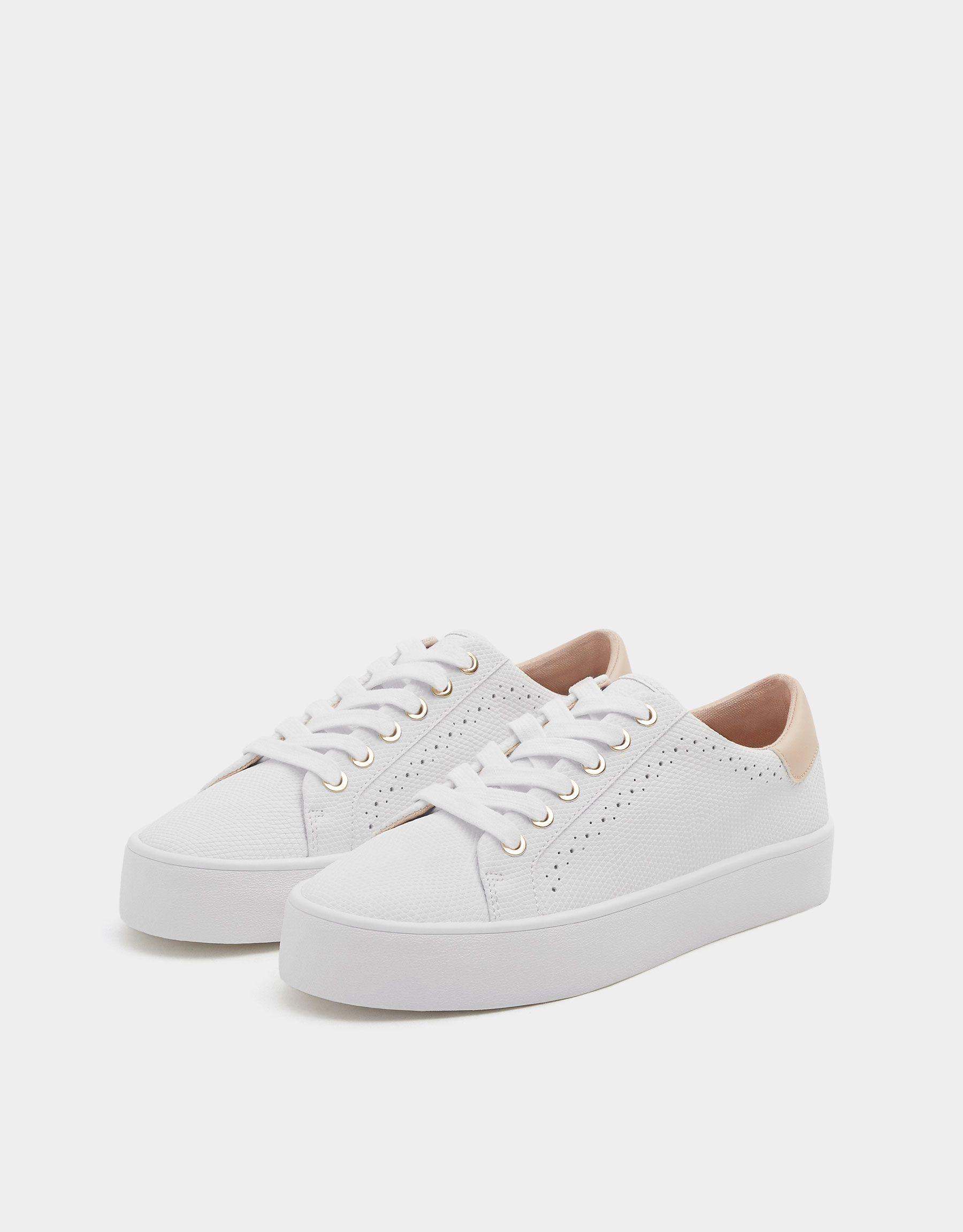 Bamba blanca grabada grabada grabada picados Ver todo Zapatos Mujer 89934d