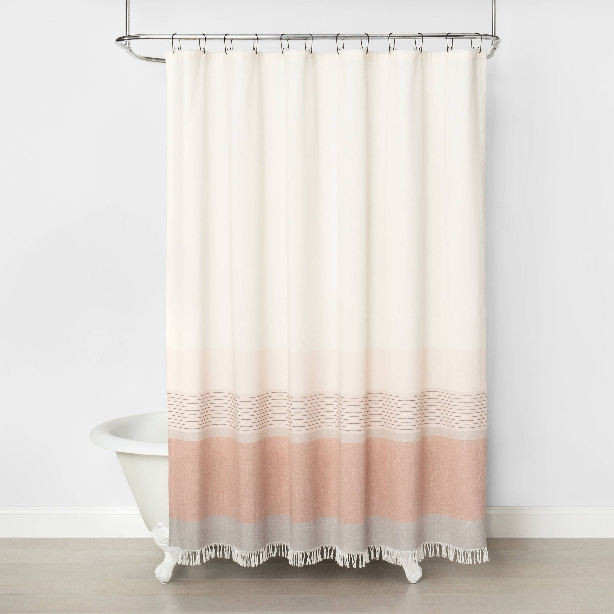 Ombre Shower Curtain Copper Hearth Hand With Magnolia In 2020 Ombre Shower Curtain Cute Shower Curtains Boho Shower Curtain