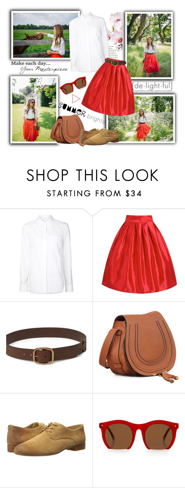 """Gal Meets Glam: Mount Juillet"" by katyusha-kis ❤ liked on Polyvore featuring Alexander Wang, Chloé, Frye, Grey Ant, blogger, coral, BloggerStyle, galmeetsglam and summerbrights"