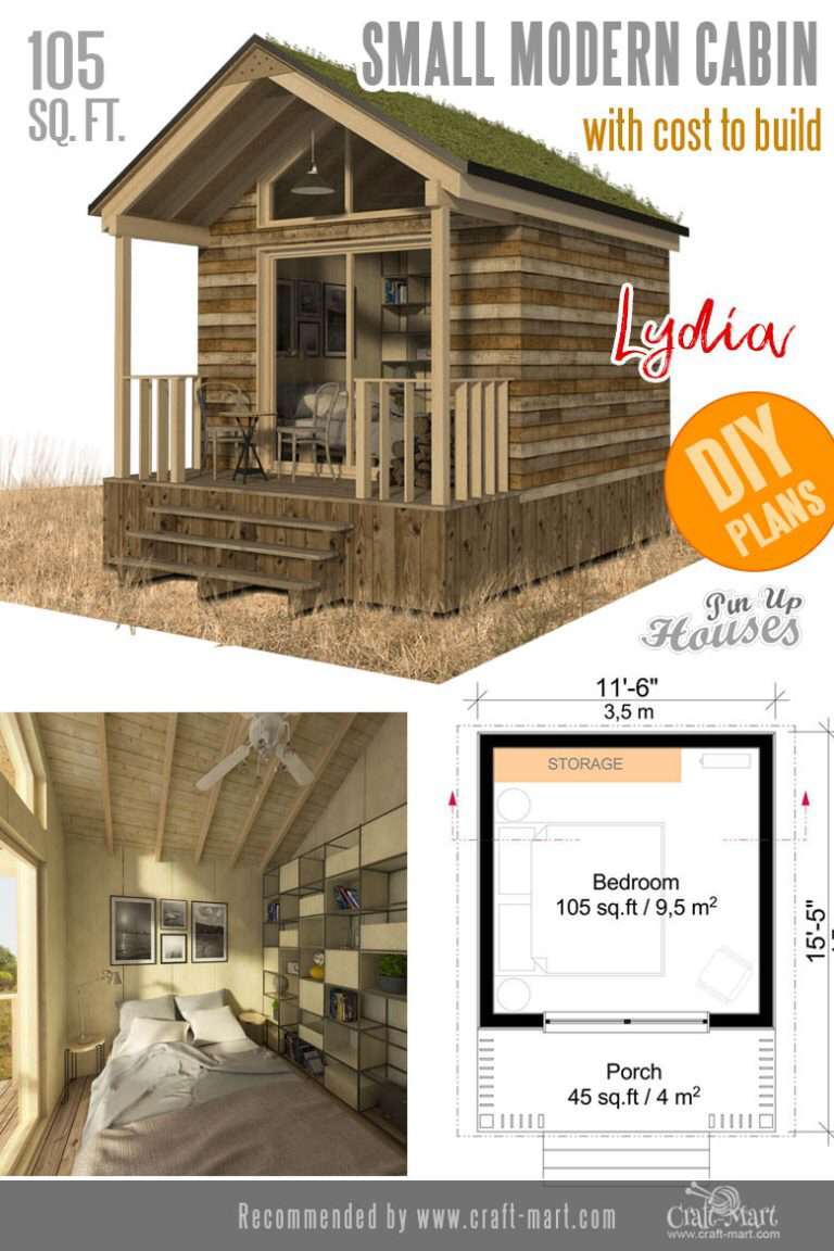 Awesome Small And Tiny Home Plans For Low Diy Budget Craft Mart Small Modern Cabin Tiny House Plans House Plans