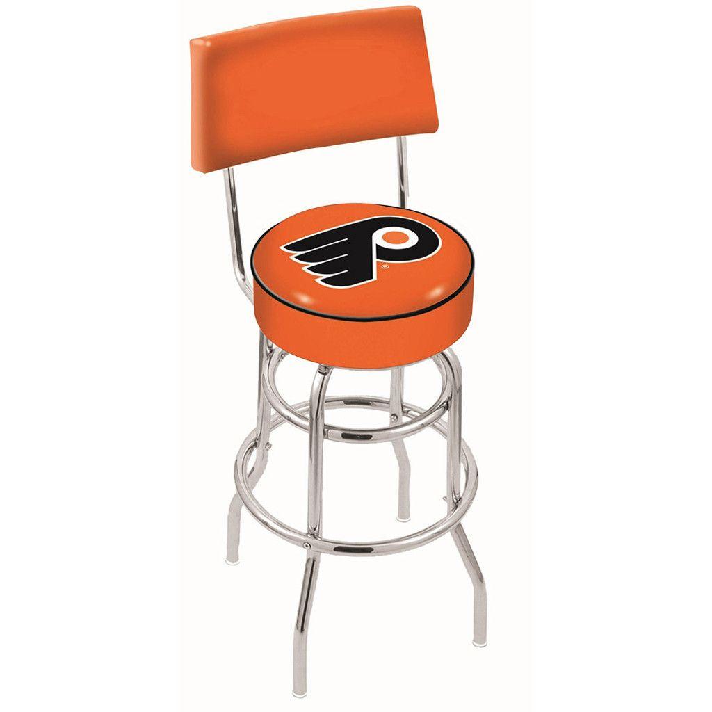 Magnificent Chrome Philadelphia Flyers Orange Double Rung Swivel Back Inzonedesignstudio Interior Chair Design Inzonedesignstudiocom