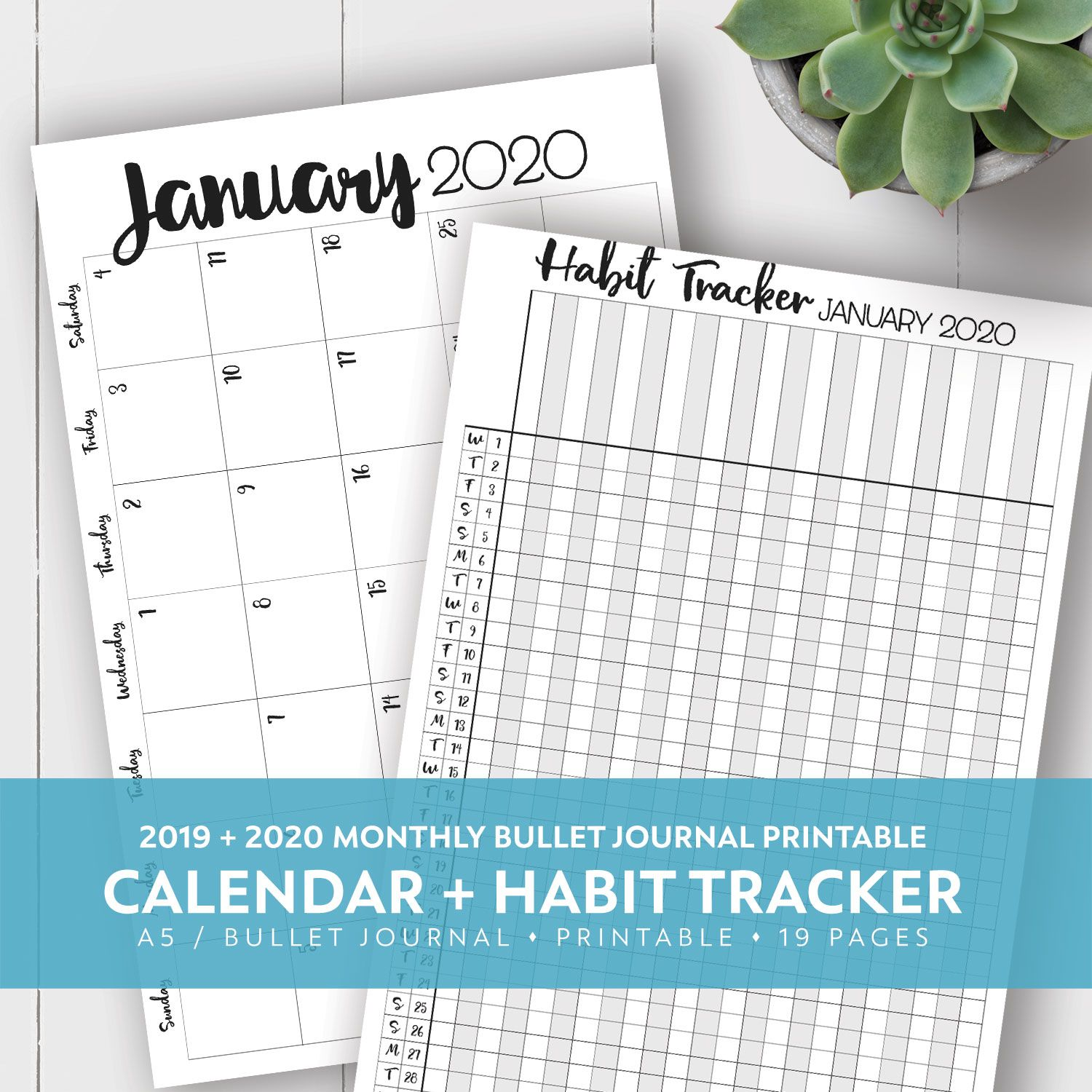 Brand New Just Published 2019 2020 Monthly Calendar And Habit