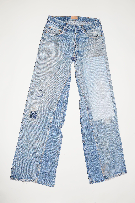 B Sides Patchwork Culotte 2 Clothes Short Outfits Light Blue Denim