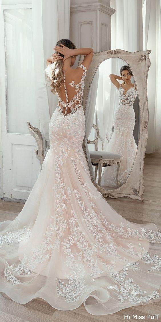 2020 Best Beautiful Lace Wedding Reception Dress