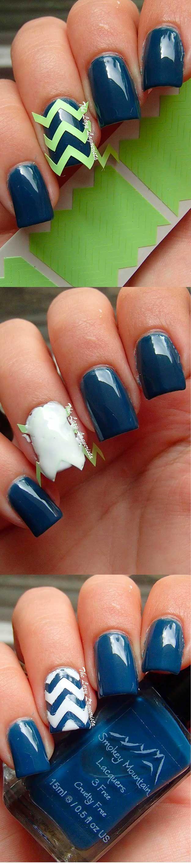 37 Chevron Nail Art Ideas | Chevron nail art, Chevron nail designs ...
