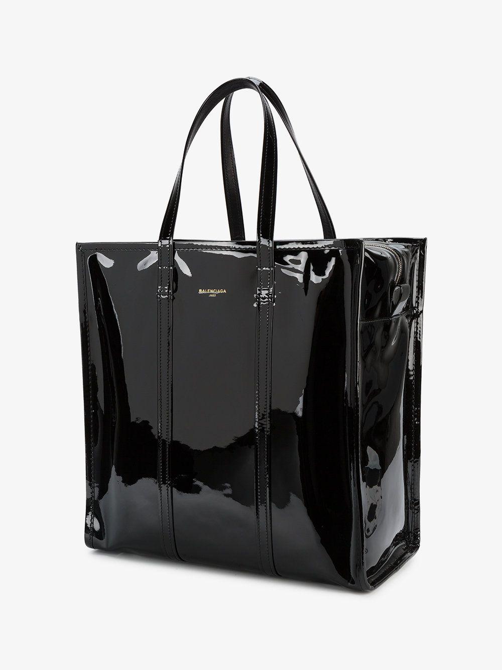 209a02bcd Black Bazar Shopper Patent Leather Tote Bag | ღ Love Bag ღ ...