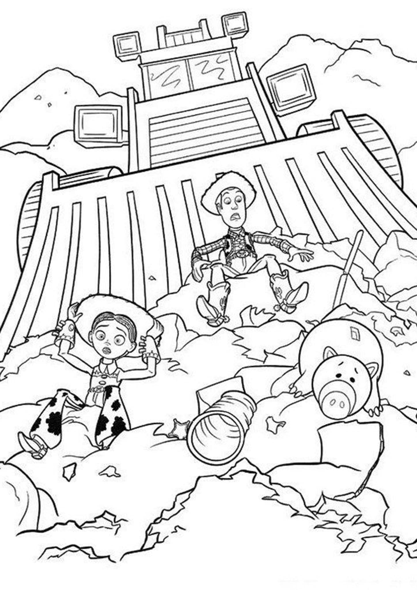 Disney Toy Story Coloring Pages Concept