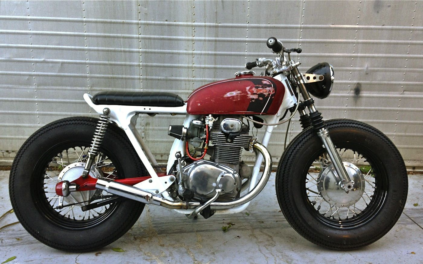 Cb Tracker Bike Build Ideas Pinterest Honda And Cafe Motorcycle Engine Specifications Custom 1972 Cb350k Twin By Top Motorsports Florida Usa Specs Bored To 450cc Pamco Electronic Ignition Made 16 Hd Wheels With