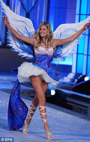 blue and blue angel! Victoria Secret Fashion Show 2011. ugh i want her body