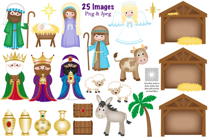 45+ Nativity scene clipart images ideas in 2021