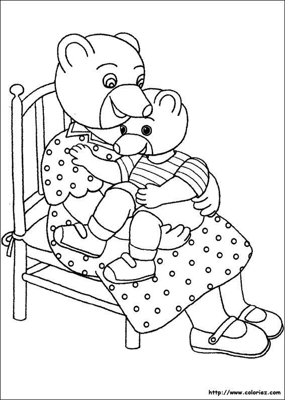 Petit Ours Brun Fait De La Peinture : petit, peinture, Petit-ours-brun-coloriage-fete-maman-mere-enfant-calin.jpg], Brun,, Colorier,, Coloriage