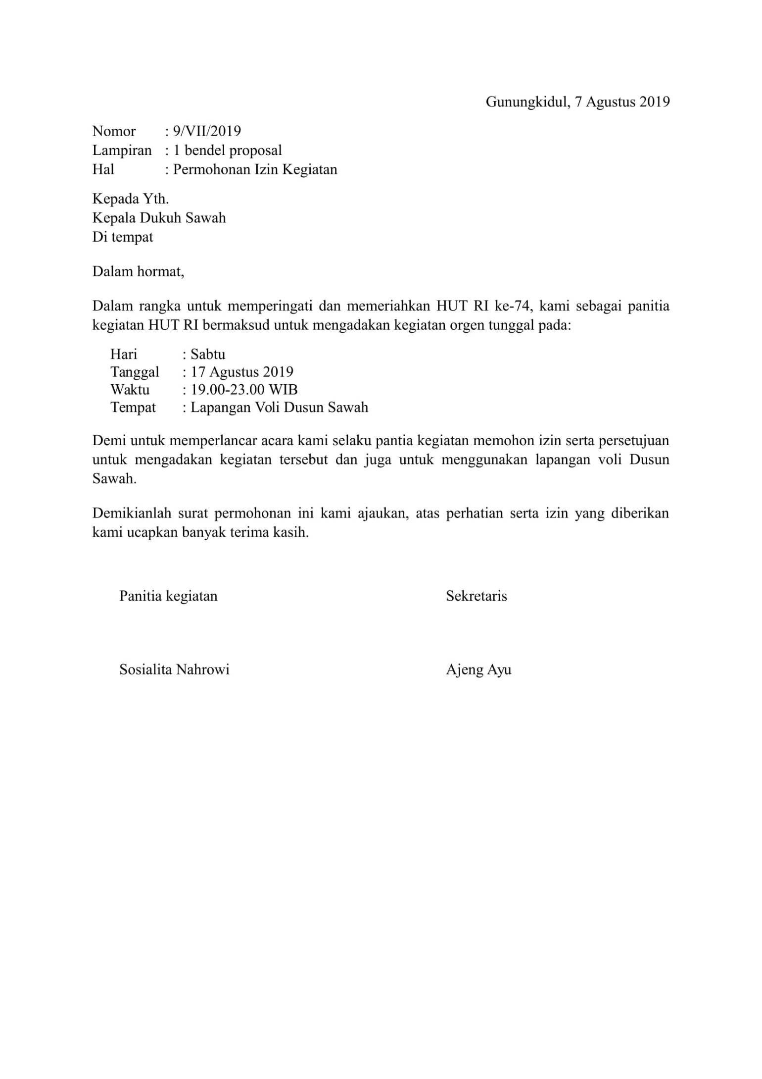 Contoh Surat Izin Surat Masuk Sekolah Sekolah