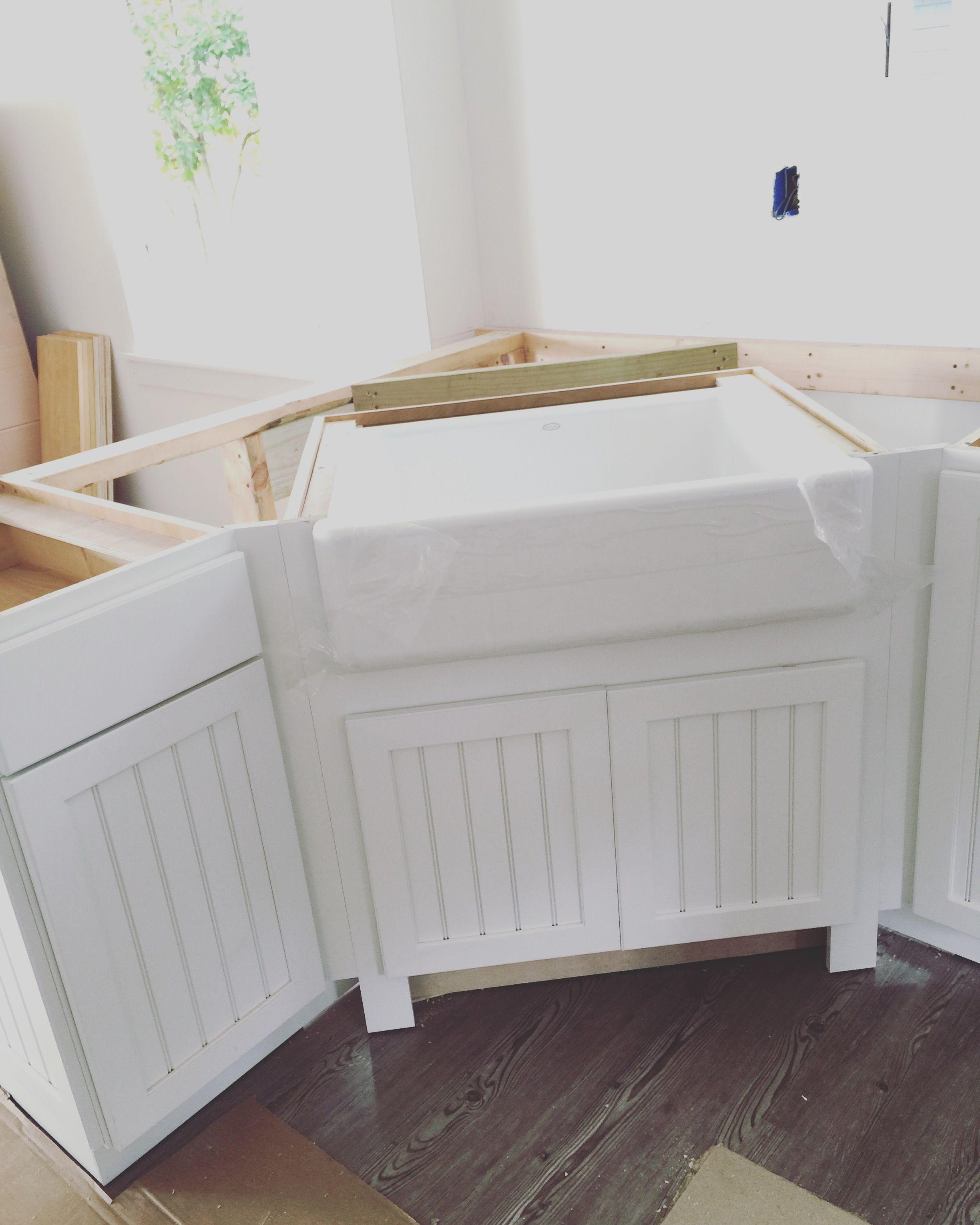 kohlerco farmhouse sink installed precountertop