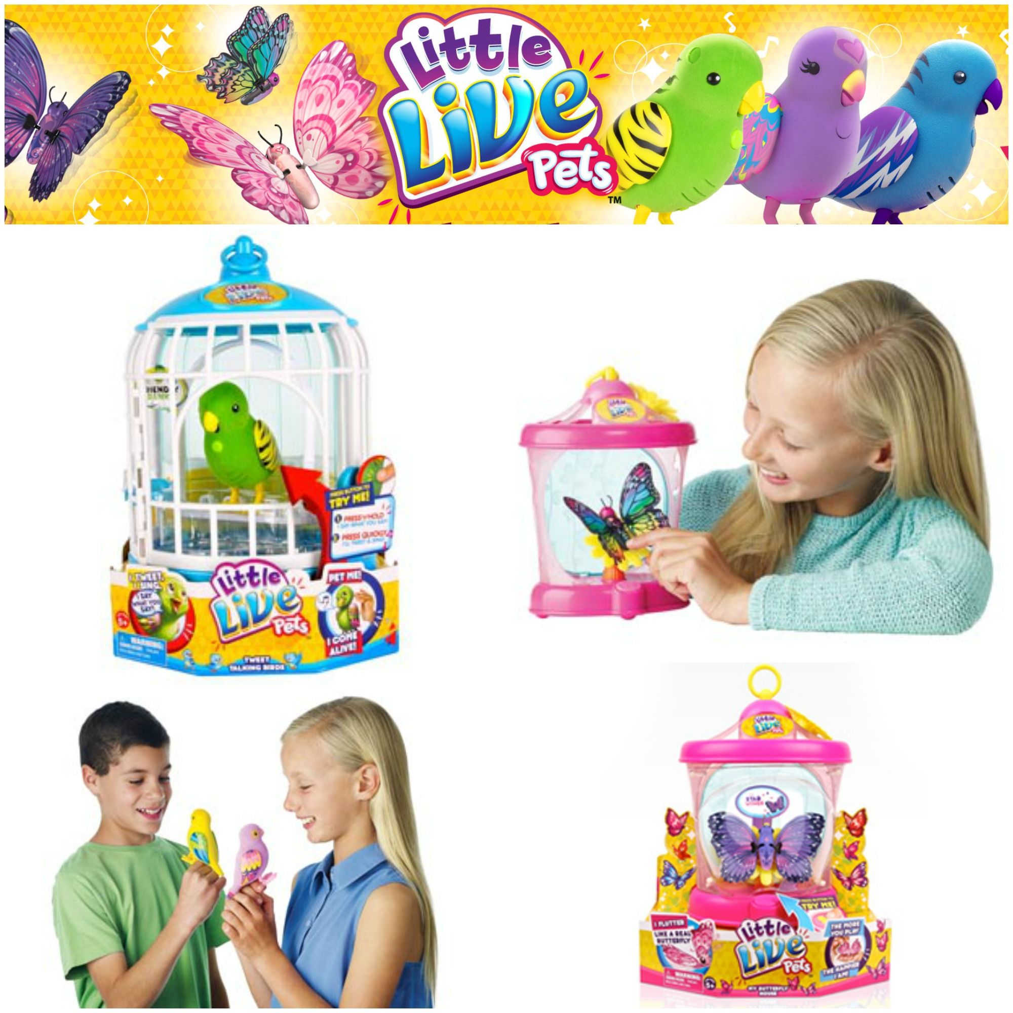 Little Live Pets Bird Cage Butterfly House Holiday Gift Guide Little Live Pets Pet Bird Cage Butterfly House