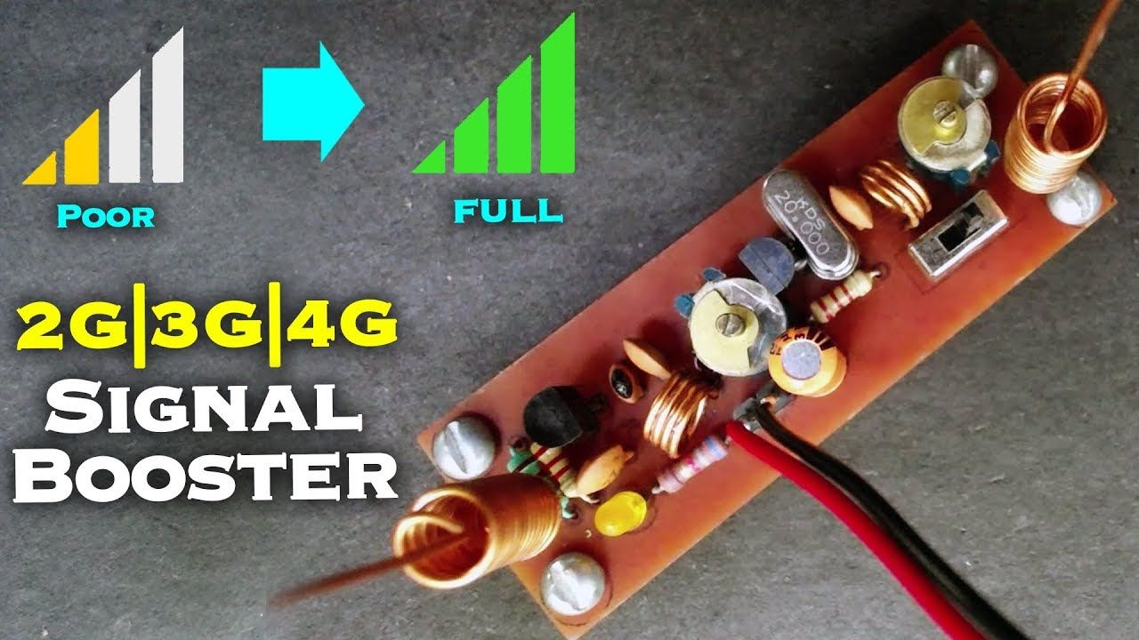 Make Your Own Cell Phone Signal Booster For 2g 3g 4g Network