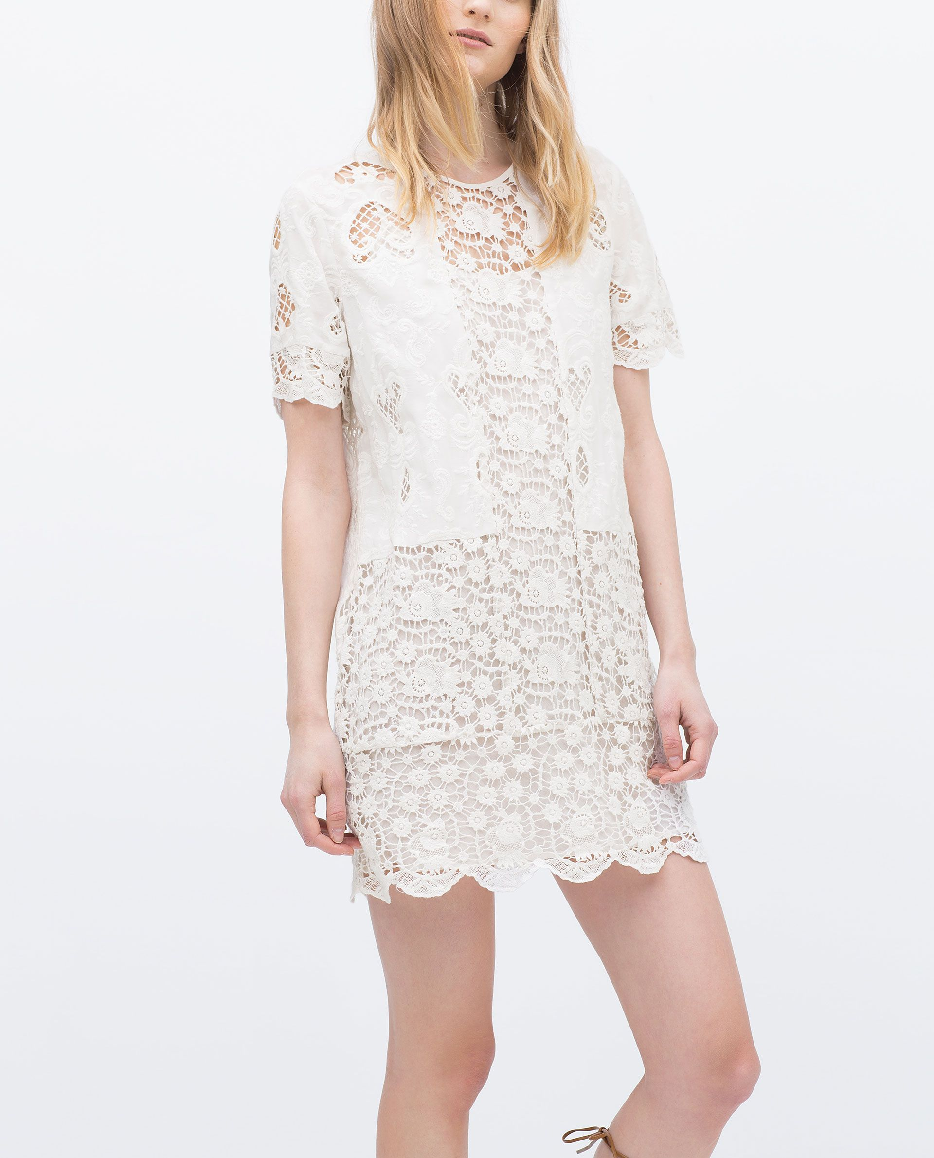 White dress at zara - Lace Dress Mini Dresses Woman Sale Zara Canada