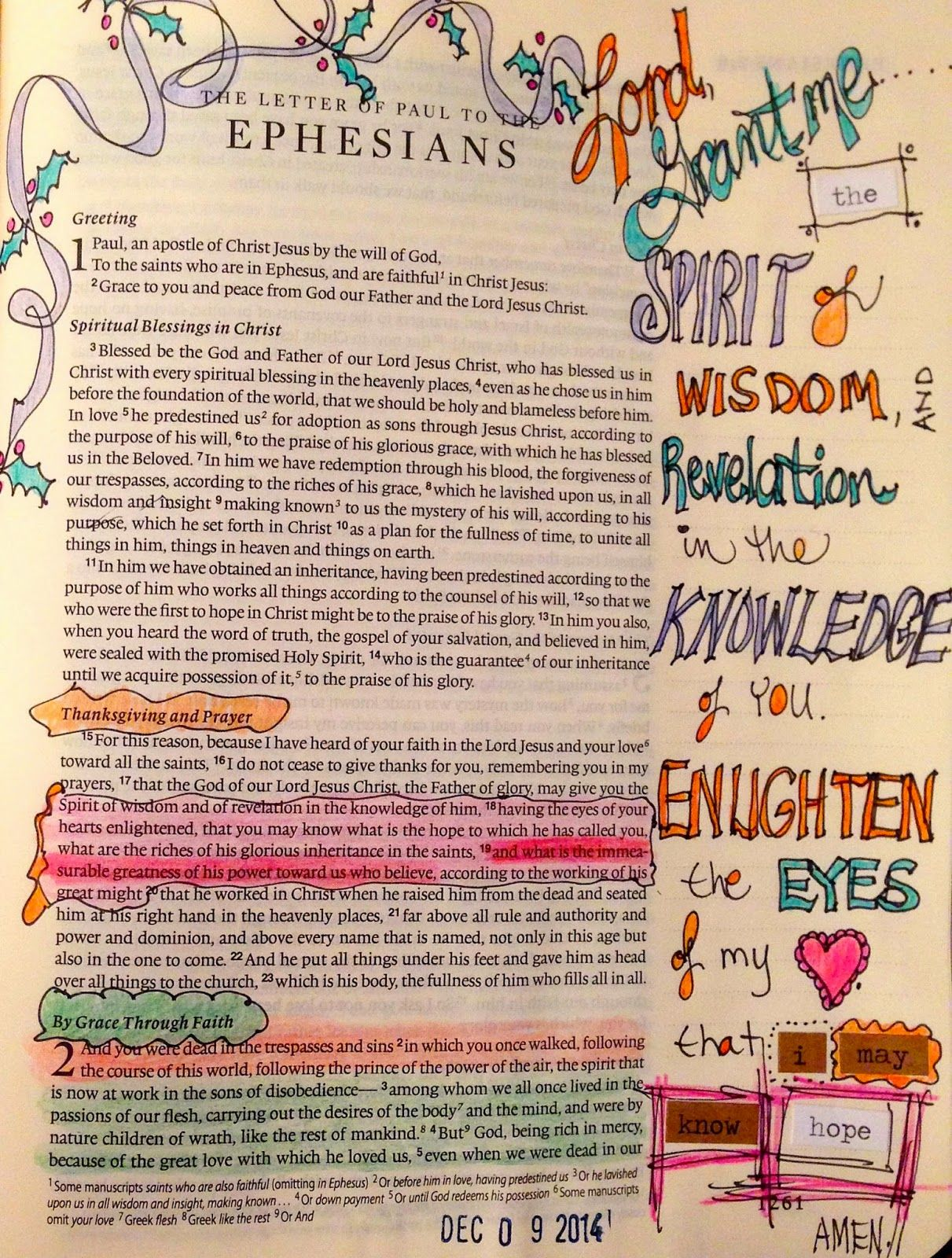 Bible Marginalia- Enlighten the Eyes of my Heart | bible journaling ...