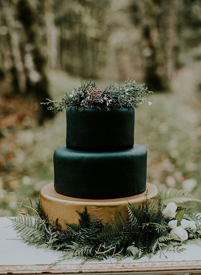 Inspired By This Moody Forest Wedding Inspiration