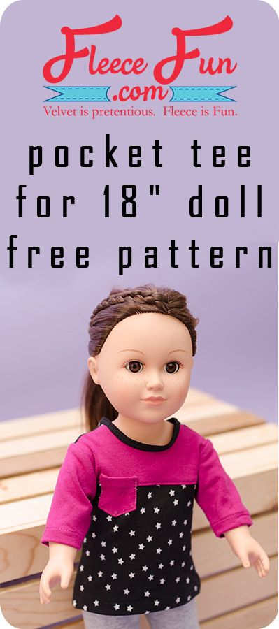 Pocket Tee Shirt for 18″ Doll Free Pattern | Pinterest ...
