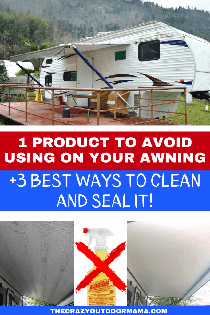 5 Ways To Clean Your Rv Awning Diy Awning Cleaner In 2020 Diy Awning Awning Rv Canopy