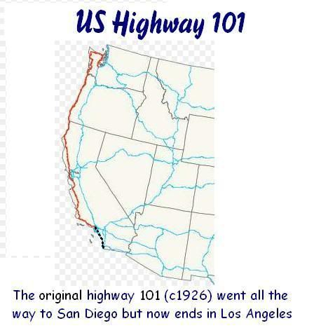 Many sections of modern day Interstate5 which runs a similar