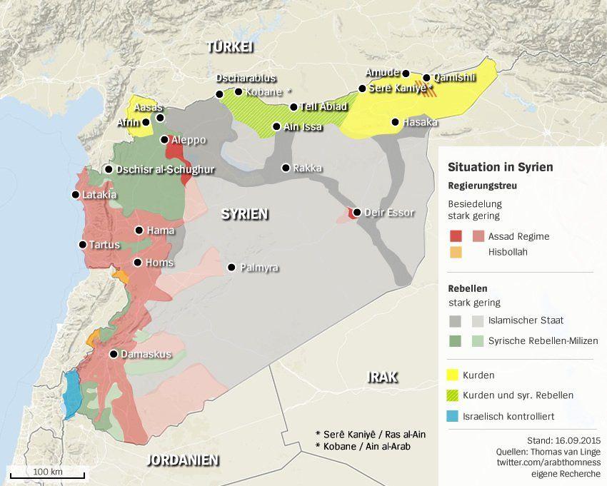 Syrien Karte.Karte Von Syrien Wer Herrscht Wo Situation In Dem