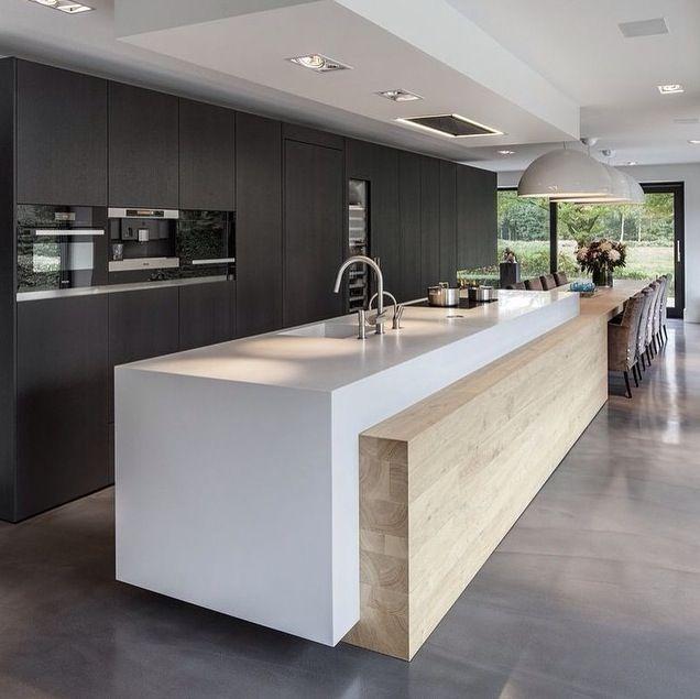Contraste | Cocinas | Pinterest | Cocinas, Cocina moderna y Interiores