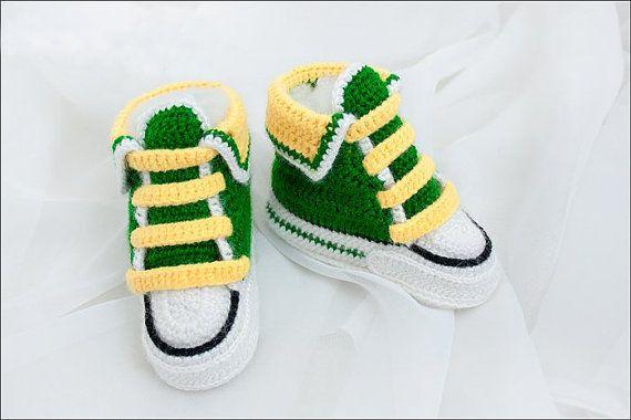 Crochet patterns PDF  Baby Boy Booties  Pattern by StyleTatyanka