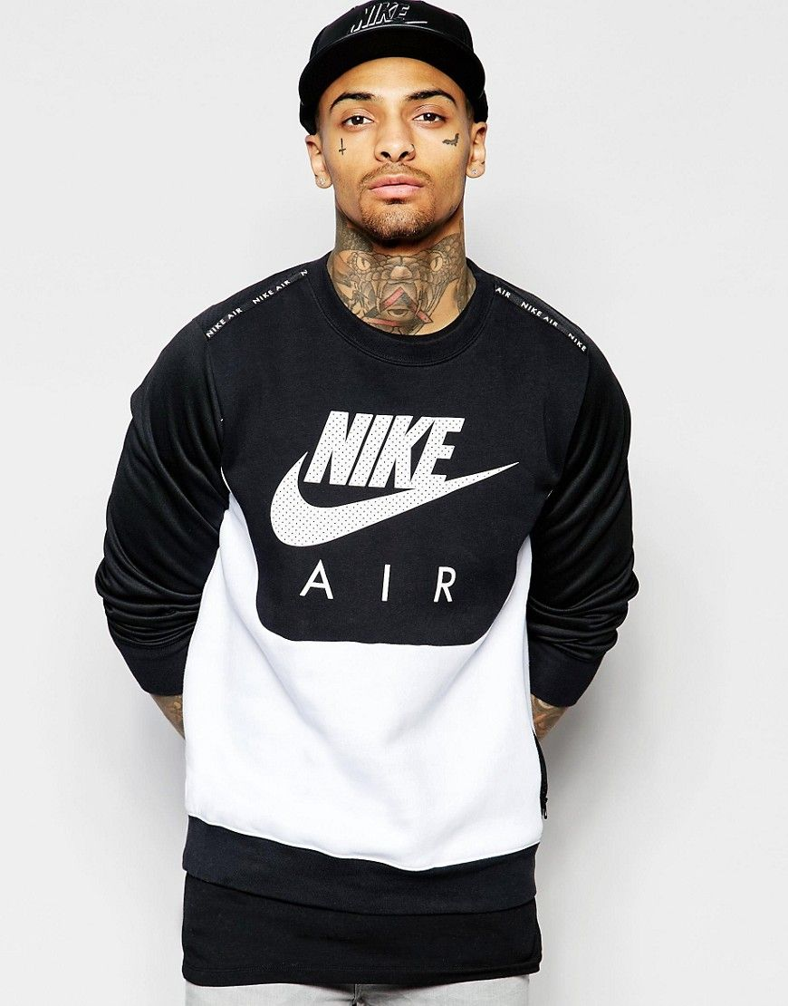 Sonderteil sehr bekannt 2019 authentisch Nike Air Crew Neck Sweat In Black 727379-013 | Shapes ...