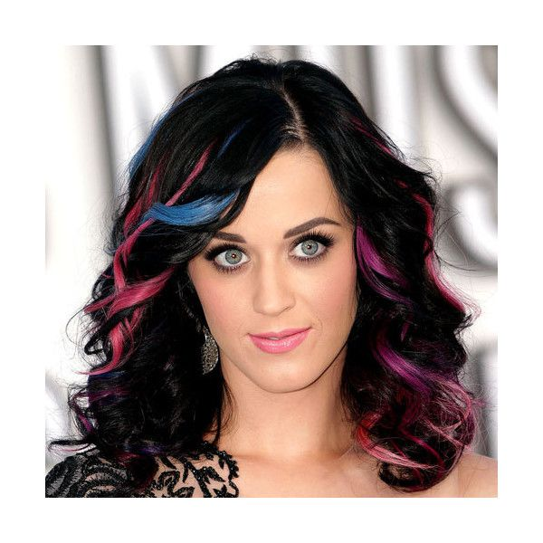 fdc70c1f29f4f Katy Perry - Fun Highlights   Highlights   Cabelo, Cabelo Colorido ...