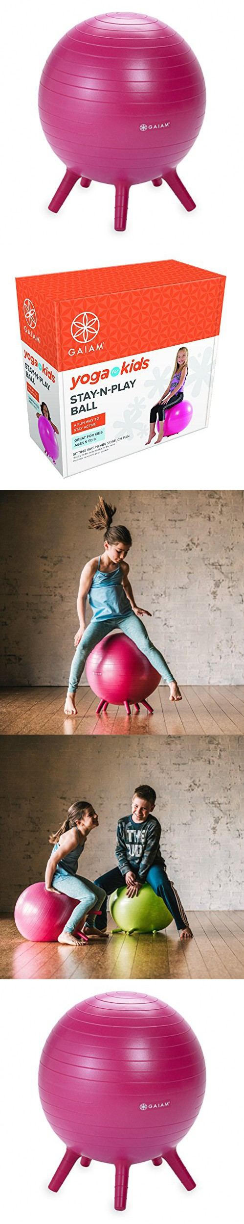 Pink ball chairs - Gaiam Kids Stay N Play Balance Ball Pink Ball Chair