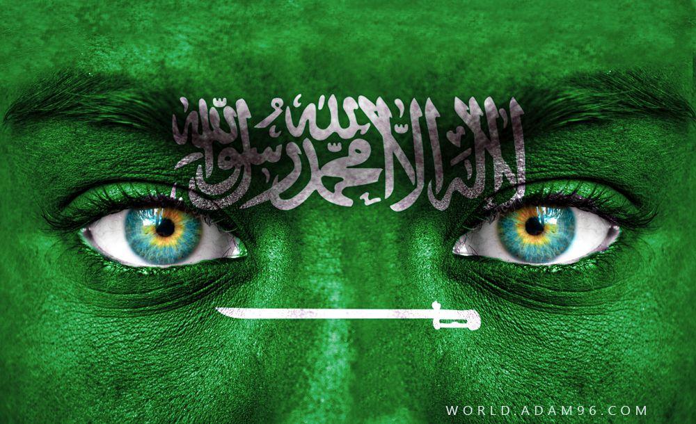 تحميل اجمل خلفيات السعودية علم السعودية على وجه طفل غلاف فيس بوك National Day Saudi Movie Posters Poster