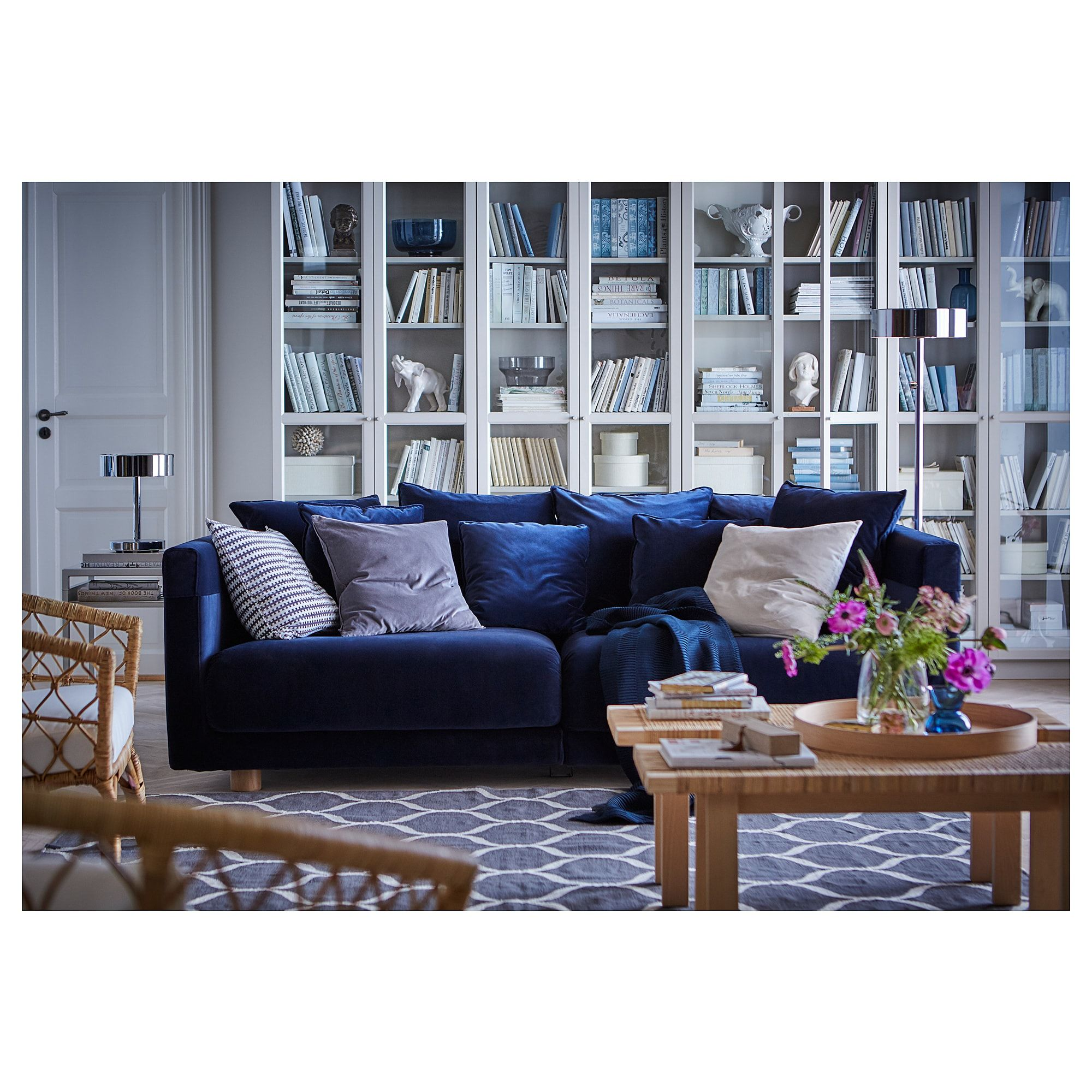 Stockholm 2017 Sofa Sandbacka Dark Blue Ikea Blue Sofas Living Room Blue Sofa Living Ikea Stockholm