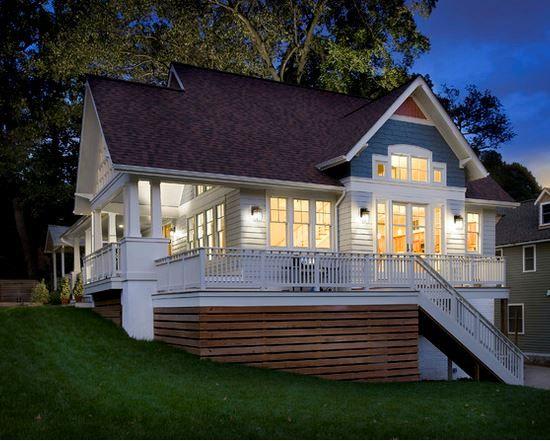 Deck Skirt Horizontal Boards Deck Skirting Modern Outdoor Patio House Skirting