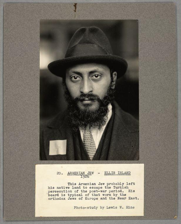 Armenian Jew, Ellis Island, 1926 From New York Public Library Digital Collections.