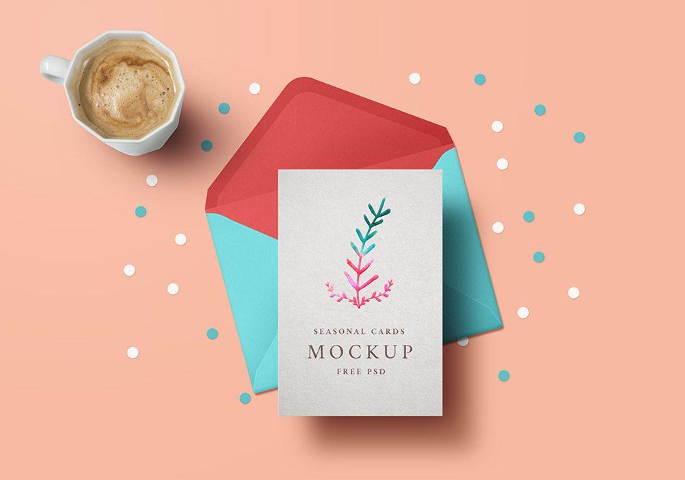 Greeting card mockup template