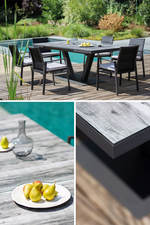 Niehoff Garden Plank Gartentisch Mit Glasauflage Auszug Mobel