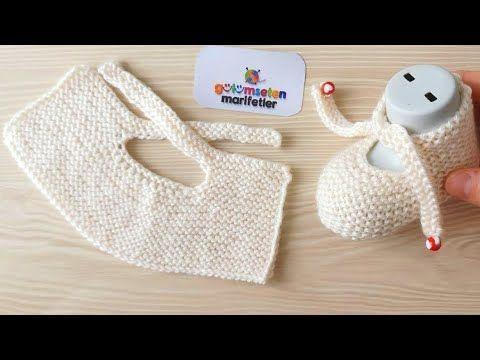 Photo of Very easy newborn baby booties model / Knit baby socks booties pattern,  #Baby #Booties #Easy…